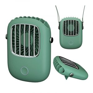 TOTU Portable Adjustable USB Chargeable Hanging Neck Electric Fan 1800mAh Desktop Cooling Fan