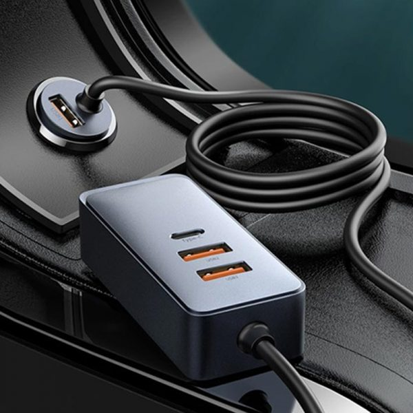 Baseus Share Together PPS Multi-port Fast Car Charger with Extension Cord