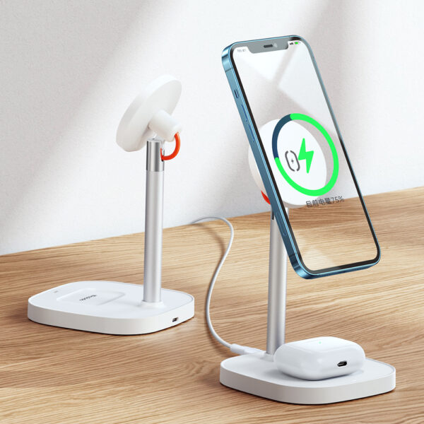 Mcdodo 2 In 1 Desktop Wireless Charger Stand For iPhone Airpods
