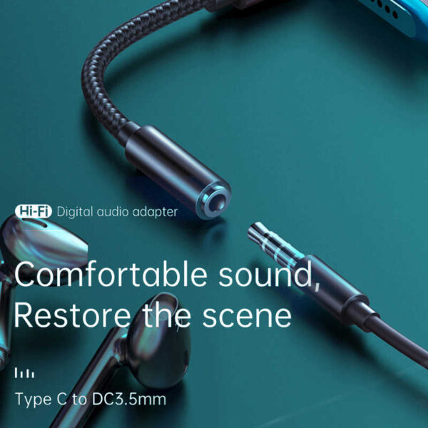 Mcdodo Original CA7560 HIFI DAC Audio Aux Cable USB Type C To DC3.5mm Headphone Jack OTG Adapter