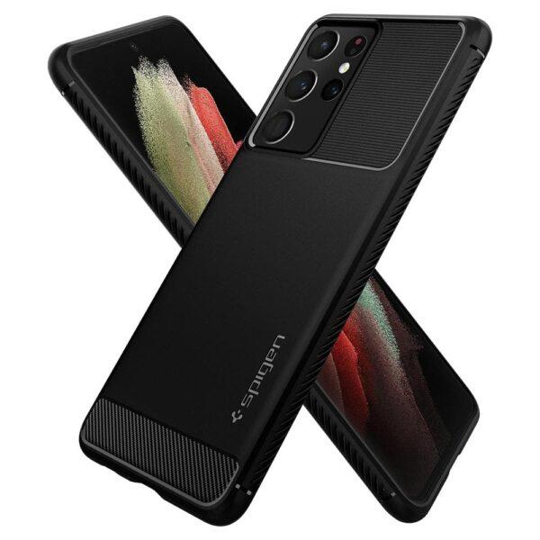 Spigen Rugged Armor Case for Samsung Galaxy S21 Ultra 5G