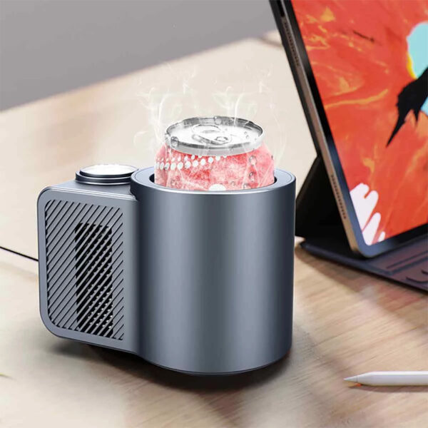 USAMS US-ZB160 Smart Car Hot and Cold Cup LED Display Fast Cooling and Heating Cup