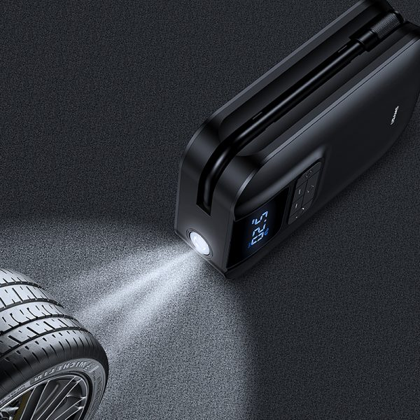 USAMS US-ZB215 Car Air Compressor Electric Tyre Tire Inflator Mini Digital Auto Air Inflatable Pump for Car Bicycle