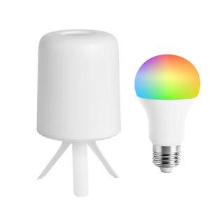 Xiaomi Youpin ZhiRui Bedside Lamp LED Light E27 Bulb Desktop Light Hazy Design Atmosphere Smart Color Light Version