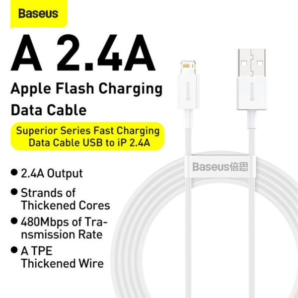 Baseus Superior Series Fast Charging Data Cable USB to iP 2.4A