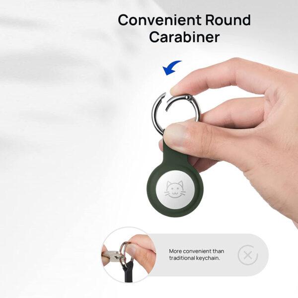 JSAUX Liquid Silicone AirTag Keychain
