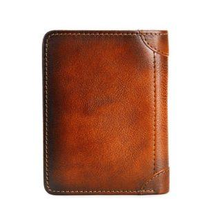 Dante Men's Genuine Leather RFID Blocking Business Card Holder Anti Theft Vertical Wallet