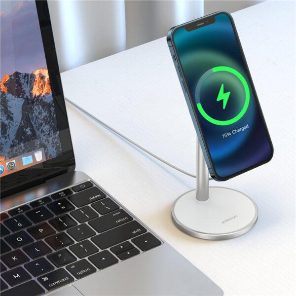 JOYROOM JR-A52 Desktop Magnetic Wireless Charger Bracket Stand Wireless Charging Holder for iPhone MagSafe