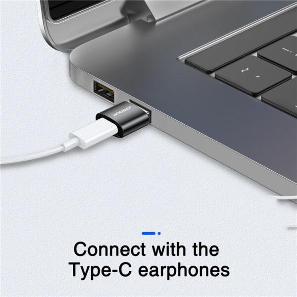JOYROOM S-H152 USB to Type C OTG Adapter USB Male to USB-C Female Converter for Laptop Mobile Phone (2Pcs)