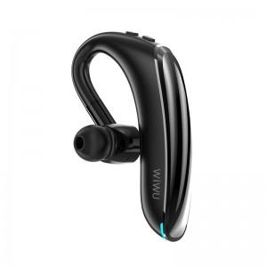 WiWU SOLO Max Single Ear Bluetooth Headset Ear Hanging Type Earphone